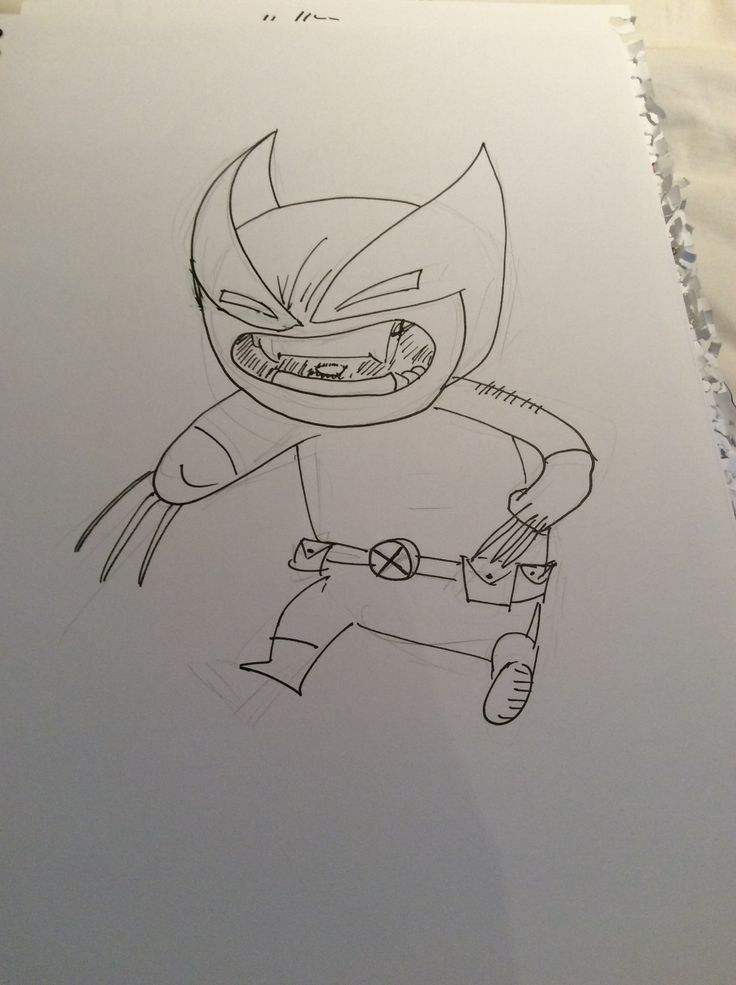 5 min chibi wolvie. The eyes are a bit meh