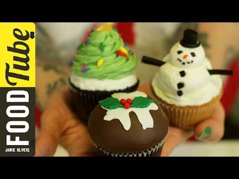 DIY Mini Holiday Christmas Brownies 4-ways | d for delicious - YouTube