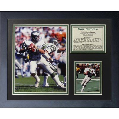 Legends Never Die Ron Jaworski Framed Memorabilia
