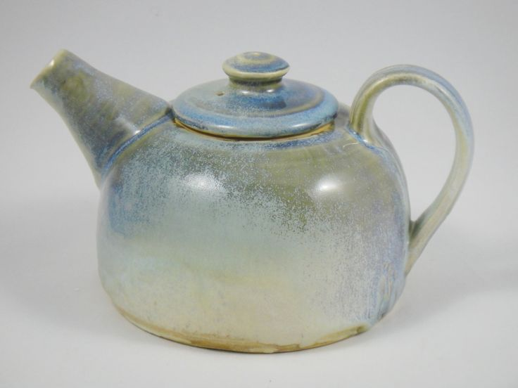 Pottery Teapot Unique 4 inch Ceramic by ManifestMeditations