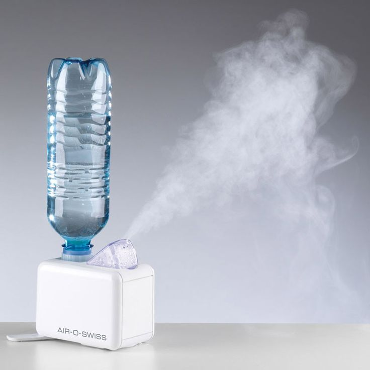 A compact, lightweight ultrasonic humidifer that reuses a plastic water bottle…