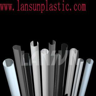 LED PC tube Description: 1. Polycarbonate extrusion led light tube, polycarbonate diffuser, fluorescent PC/polycarbonate led housing; 2. High clarity, UV resistant, impact resistant. ROHS compliant. http://www.lansunplastic.com/