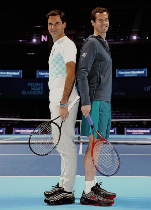 Roger Federer and Andy Murray 2017