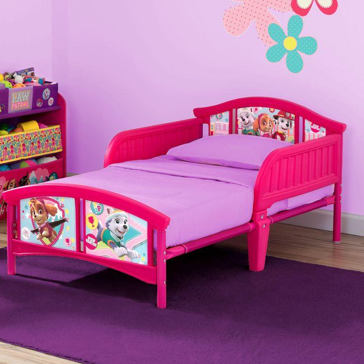 Nick Jr. PAW Patrol Skye and Everest Plastic Toddler Bed