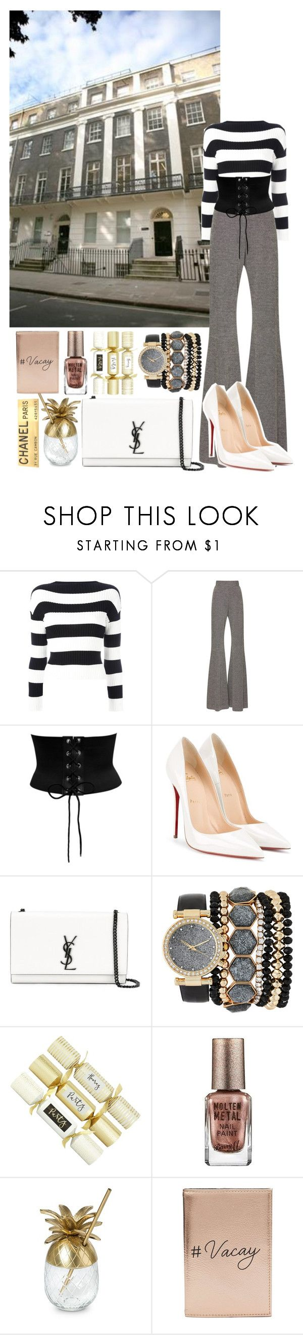 Untitled #436 by danielagreg on Polyvore featuring Boutique Moschino, Beaufille, Christian Louboutin, Yves Saint Laurent, Miss Selfridge, Jessica Carlyle, Chanel and Barry M