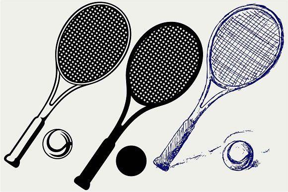 Tennis Racket And Ball Svg Tennis Racket Tennis Rackets