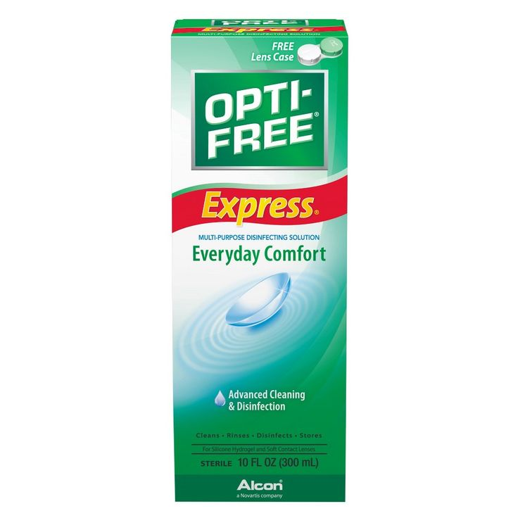 Optifree Express Lasting Comfort Contact Lens Solution