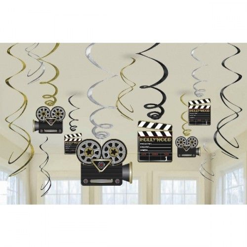 "'Lights Camera & Action'. Espirales decorativas ""Luces, cámaras y acción""…"