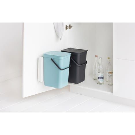 Set 2 poubelles Built-in Sort & Go 2x16 Litres