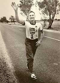 "Albert Ernest Clifford ""Cliff"" Young (1922 – 2003) was an Australian potato farmer who against all odds won the Westfield Sydney to Melbourne Ultra Marathon (875 kilometres/544 miles) win at 61 years of age. By denying himself sleep and running while the others slept, he slowly gained on them and eventually won by a large margin, a real life ""tortoise and hare"" feat!"