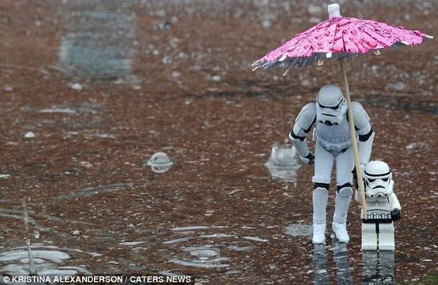 From A Stormtroopers Family Album. Hilarious!!! and kinda sweet too. (photographer Kristina Alexanderson)