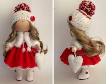 Fabric doll Handmade doll Textile doll Soft by AnnKirillartPlace
