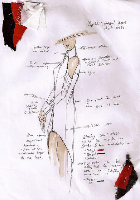 Fashion Sketchbook   Fashion Design Sketch U0026 Fabric Swatches // Thidarat  Kaha