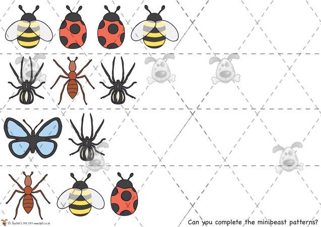 Teacher's Pet Activities & Games » Minibeast Patterns