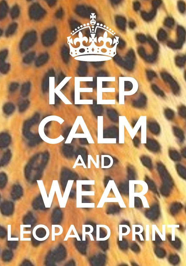 Keep Calm Leopard