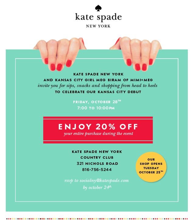 MIMI+MEG: kate spade new york — Kansas City launch party!