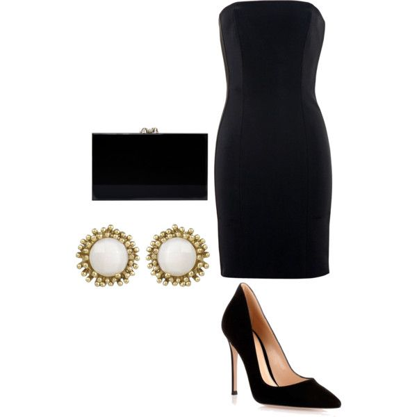 Untitled #31 by bestari09 on Polyvore featuring polyvore fashion style La Mania Gianvito Rossi Charlotte Olympia Kendra Scott