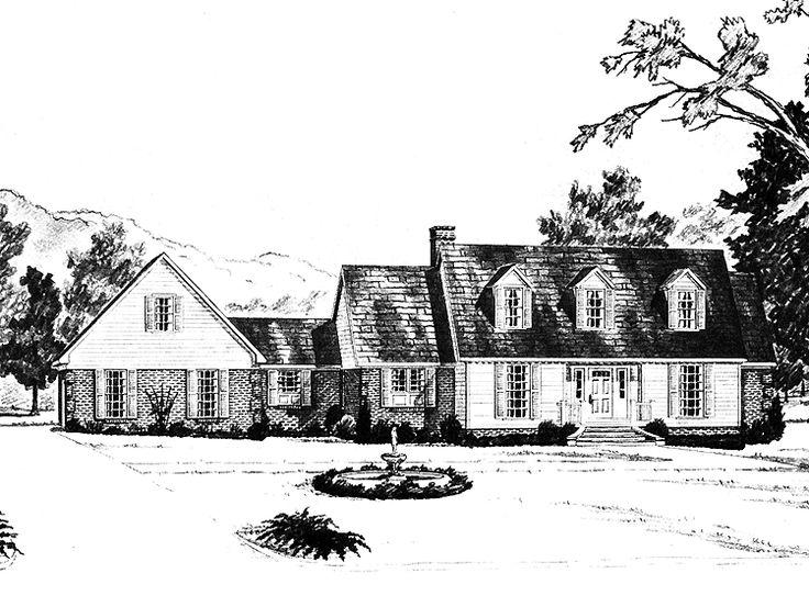 79 best images about house plans on pinterest for Cape cod house plans no garage