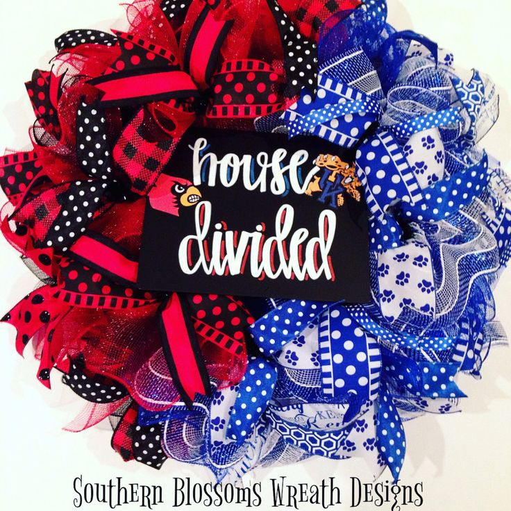 A personal favorite from my Etsy shop https://www.etsy.com/listing/482866996/house-divided-wreath-uk-wreath-ul-wreath