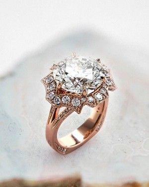 Eye-catching vintage inspired diamond engagement ring.