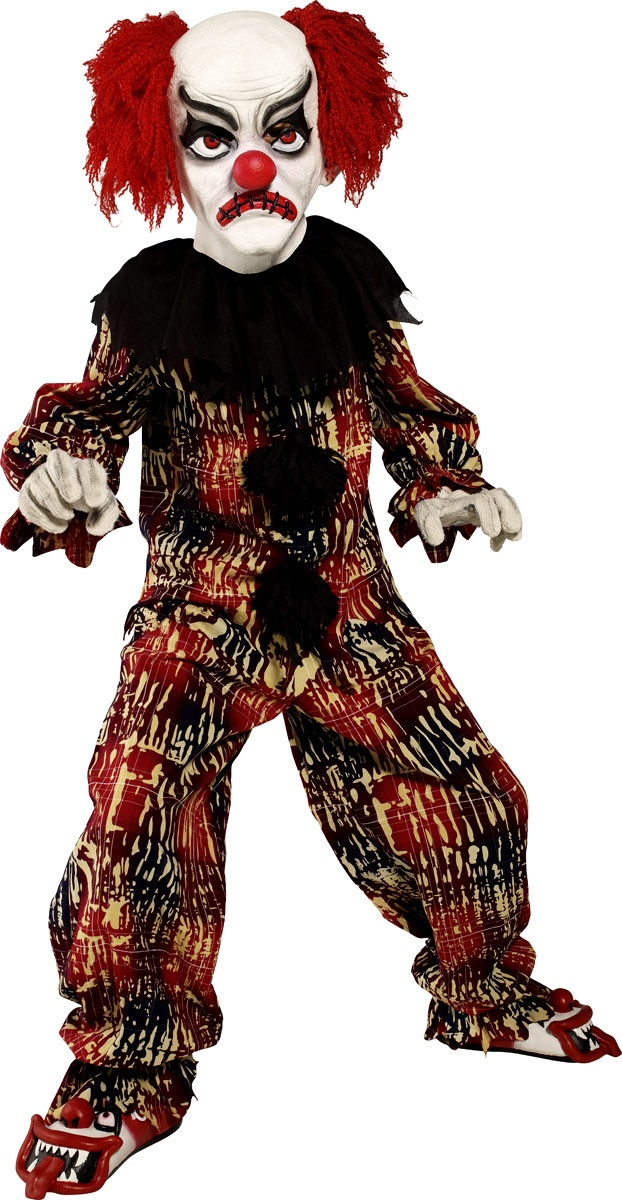 child deluxe zombie alley clown costume scary clown costumehalloween - Scary Halloween Costumes For Children