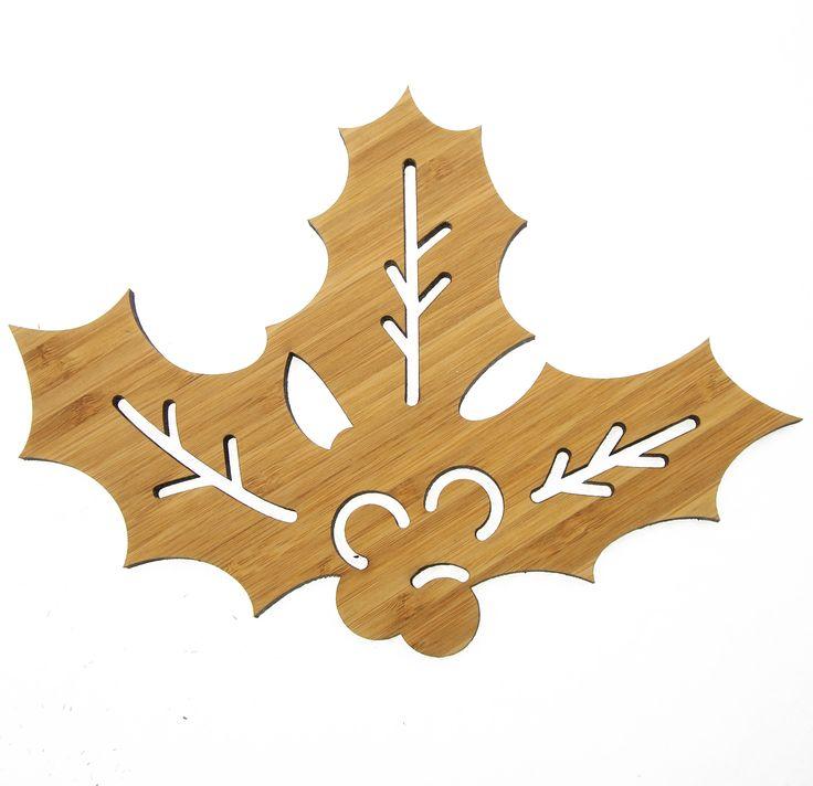 Wanddeko mistelzweig aus bambus coffee das original von mr mrs panda ber unser motiv - Wanddeko bambus ...