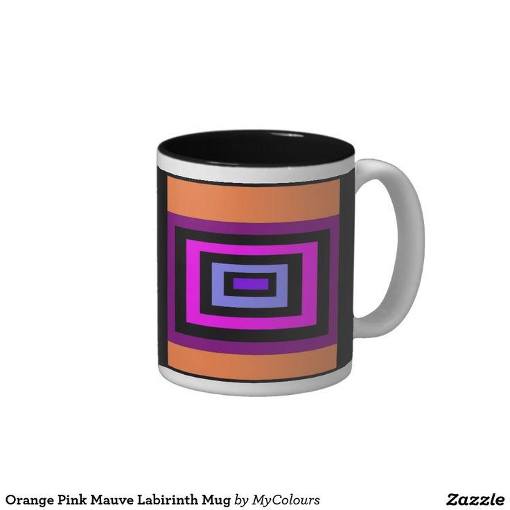 Orange Pink Mauve Labirinth Mug