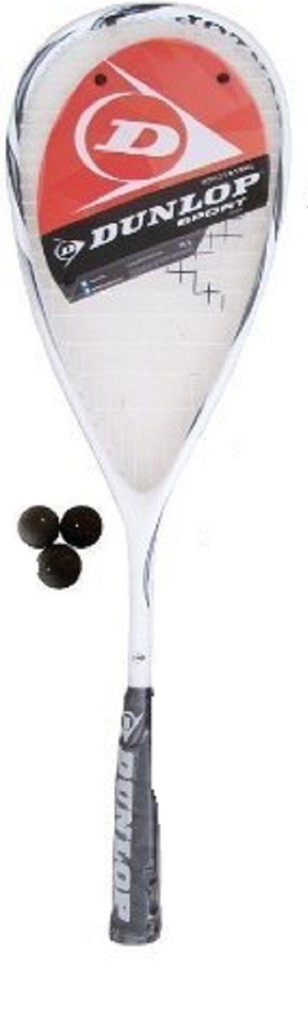 Dunlop Max Lite Titanium Squash racket + 3 Squash Balls RRP ?155 by Dunlop. Dunlop Max Lite Titanium Squash racket + 3 Squash Balls RRP ?155. adult.