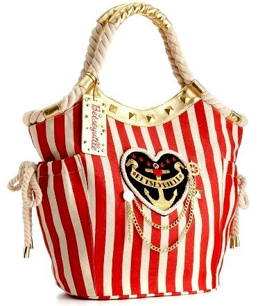 Betsey Johnson Bags | Betsey Johnson Betseyville Sailor Girl Tote ... - 12 Most Fab Bags ...