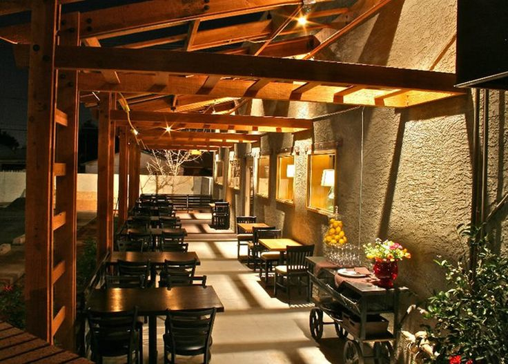 Outdoor Fine Dining Patio Hospitality Lighting Of Becketts
