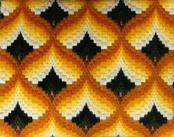 Pomegranate pattern bargello quilt