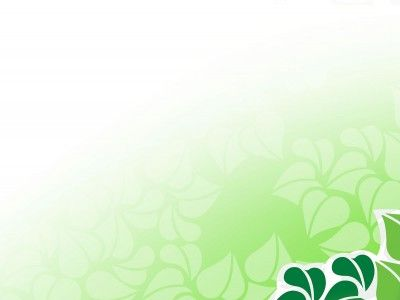 Green Vector Flower PPT Backgrounds