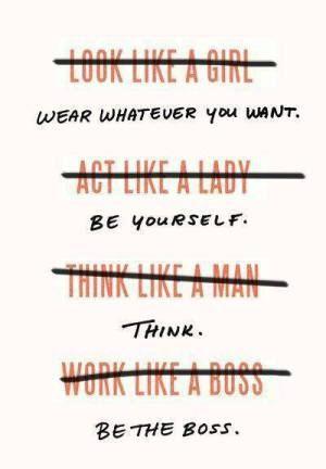 think like a man? think like a woman | Sweet Sunshower