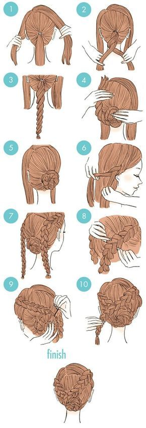 A cute and easy updo with braids (2)