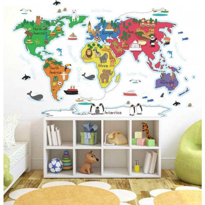 Adesivo De Parede Mapa Mundi Destacavel ~ 25+ melhores ideias sobre Adesivo Mapa Mundi no Pinterest