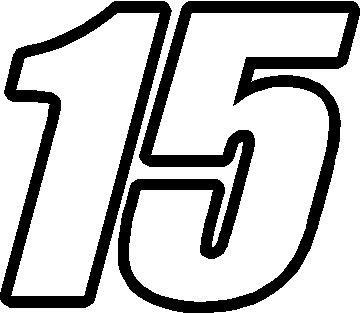 images of number 15 | 15 Race Number Impact Font Decal / Sticker