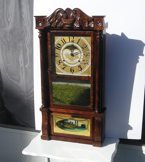 Vintage Mantle Shelf Mahogany Peck Haydon & Co by TreasureByDemand
