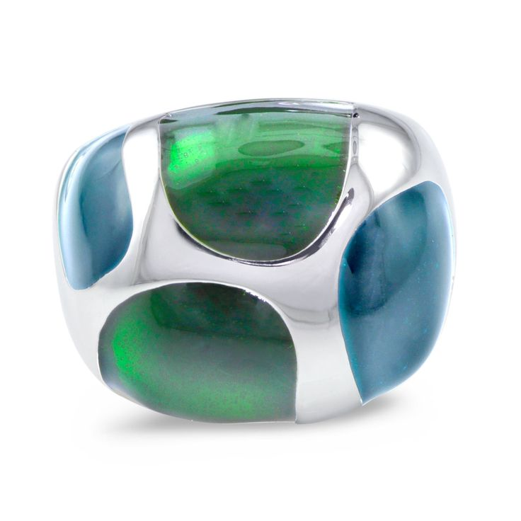 Prod Code: ER436G Enamel Ring Sterling Silver SELECT OPTIONS: Sterling Silver Price: $220.00 #Moimoifinejewellery #green #enamel #Ring #Gift #Love #sydney #jewellery