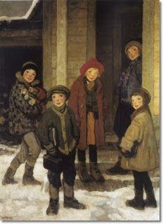 """""""Porta de escola"""". Francis Luis Mora.    Veredas da Língua: """"Mestra Silvina"""" — Cora Coralina"""