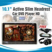 "10.1 inch Slim Active Car headrest DVD Player HD Digital TFT Screen HDMI Game 9"""