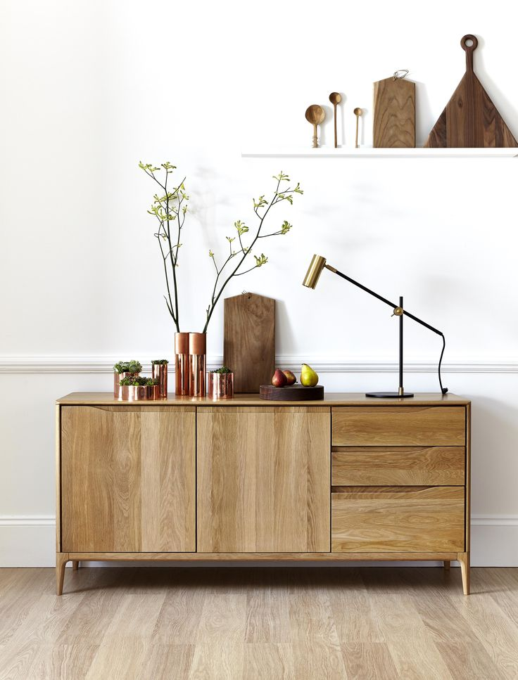 Ercol Romana Sideboard - simplel, mid century modern style.