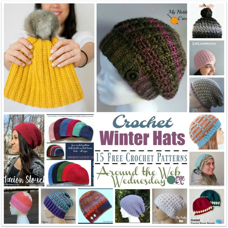 15 FREE Crochet Patterns for Winter Hats. These winter hats are quick to crochet, and make for cozy gifts throughout the winter season.