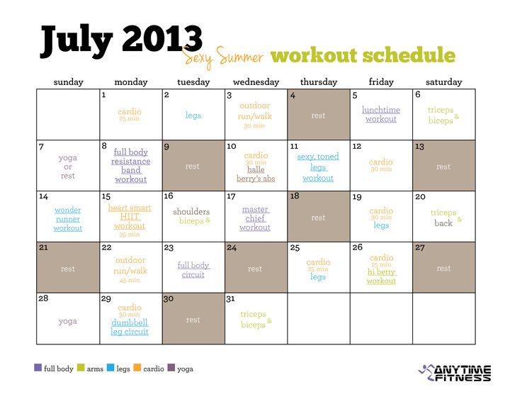 Best  Workout Calendar Printable Ideas On   Workout