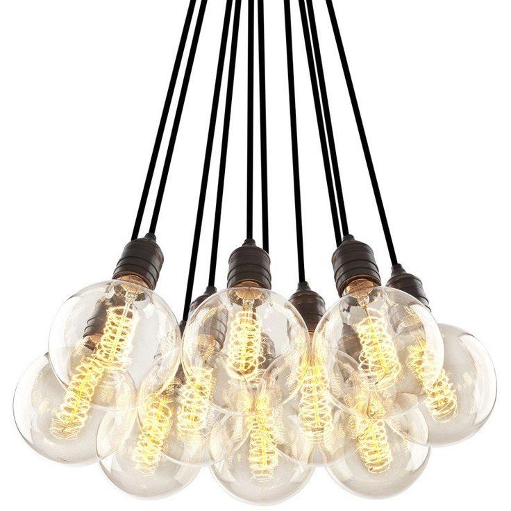 Vintage Taklampe - 10 Lyspærer