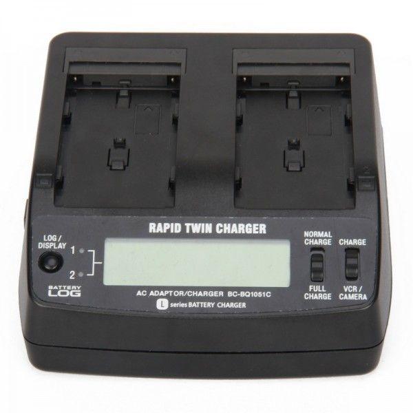"""BC-BQ1051C AC100~240V 2.0"""" Display Dual Battery Charger"""