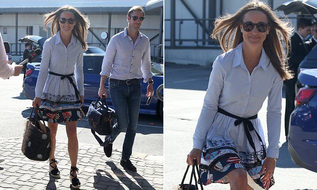 Pippa Middleton and James Matthews have continued their whirlwind honeymoon, landing in Perth on Sunday. And on Monday the pair were at Perth airport again to catch another flight.