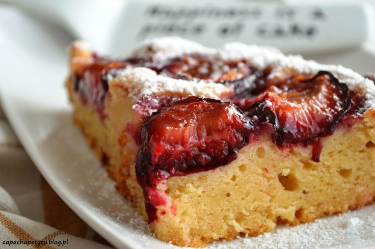 Honey Yeast cake with plums #zapachapetytu#honey #cake #plums