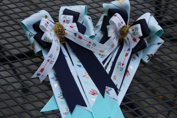 Arrows Horse Show Bows от MaggiesCustomShowBow на Etsy
