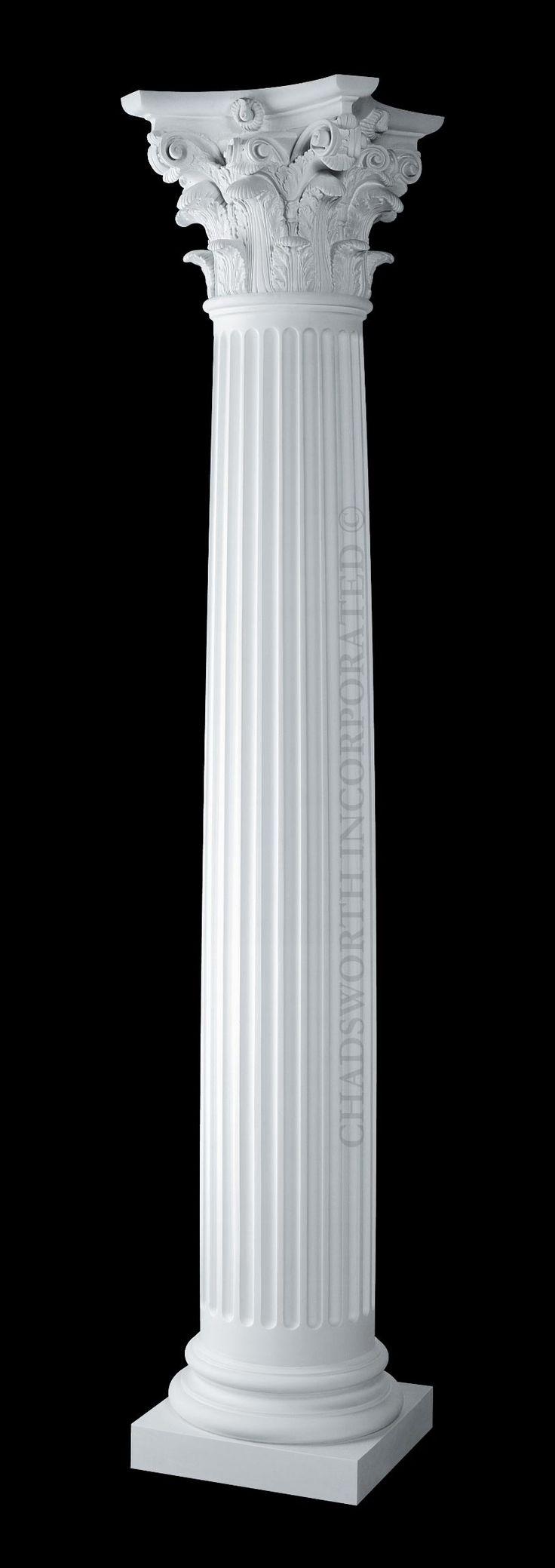 Best 25 corinthian order ideas on pinterest corinthian for Fluted fiberglass columns