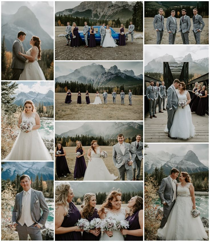 Mountain Wedding - Canmore Wedding - Fall Mountain Wedding - Teller of Tales Photography